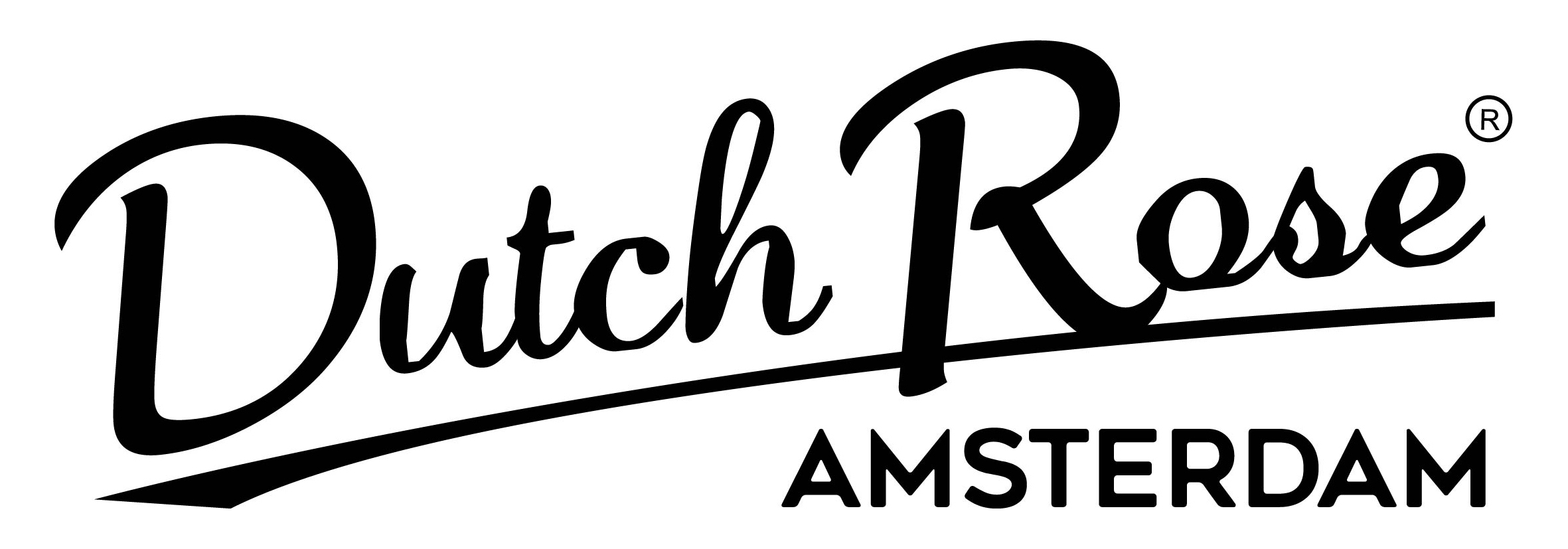 logo Dutch Rose Amsterdam zwart